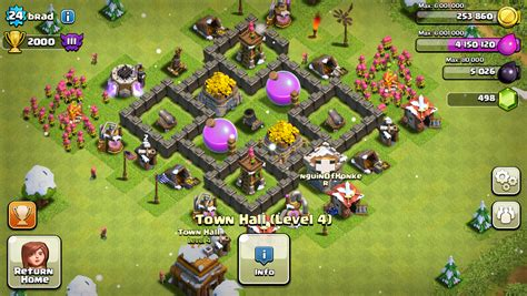 coc layout for th4 coc th4 farming base layout