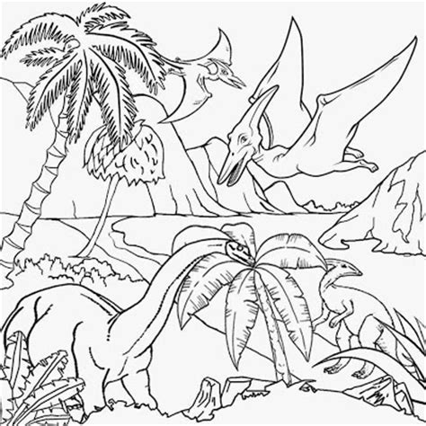 dinosaur jungle coloring page free rainforest coloring pages