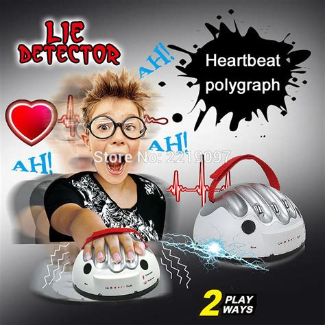 Polygraph Shocking Liar Micro Electric Shock Lie Detector G T19 2 tricky adjustable polygraph test micro