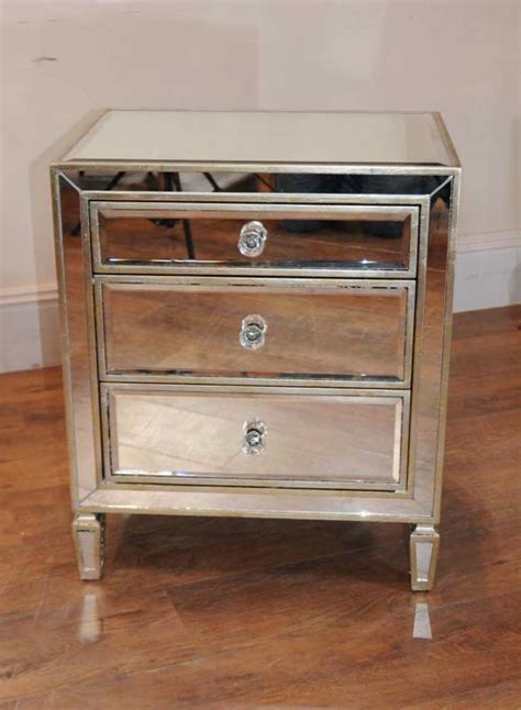 Bedside Tables Nightstands by Pair Mirrored Nightstands Bedside Chests Tables