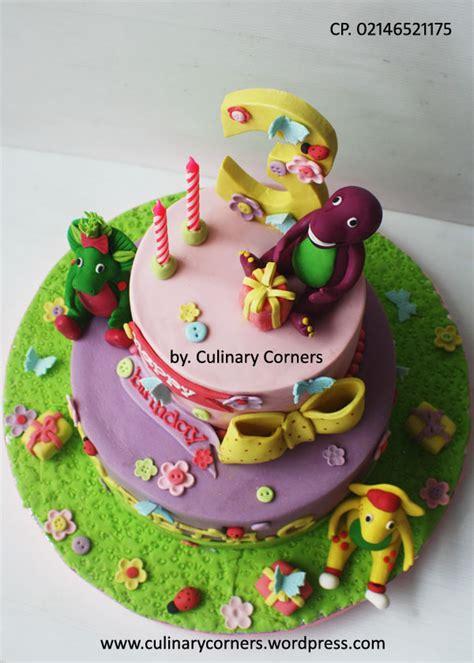 Cake Ultah And Friend Buttercream barney birthday cake culinary corners