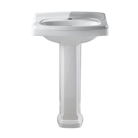 standard bathroom sink american standard portsmouth pedestal combo bathroom sink with center hole only in