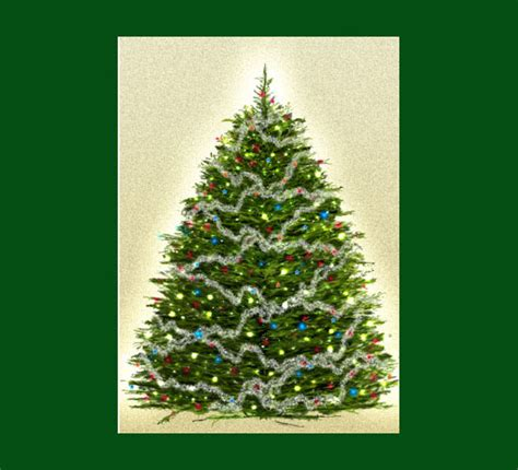 realistic christmas tree drawings www pixshark com