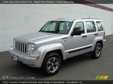 2008 jeep liberty silver bright silver metallic 2008 jeep liberty sport 4x4