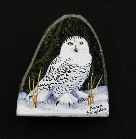 Pet Rock Snowy 2733 best a painted rocks slate images on painted rocks rock painting and