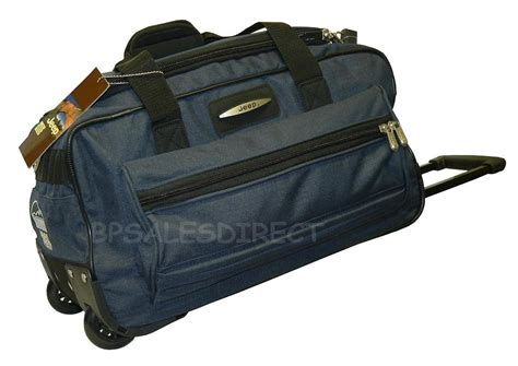 Jeep Bags 18 Quot Inch Jeep Wheeled Holdall Duffle Travel Cabin Bag Ebay