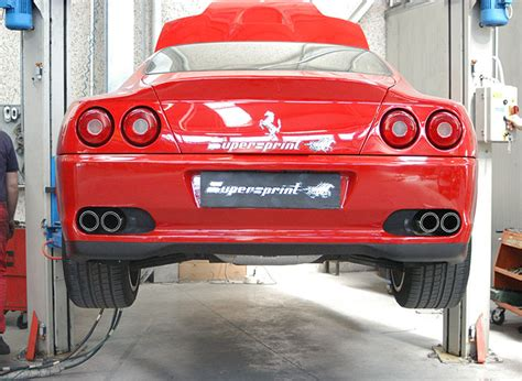 Ferrari 3 Endrohre by Sportauspuff Anlage F 252 R Ferrari 550 Maranello Ferrari 550