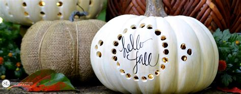 drilled pumpkins drilled craft pumpkin luminaries michaelsmakers
