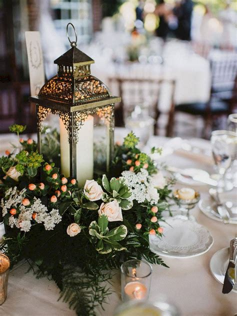 wedding centerpieces ideas not using flowers awesome lantern greenery centerpiece ideas 21 oosile