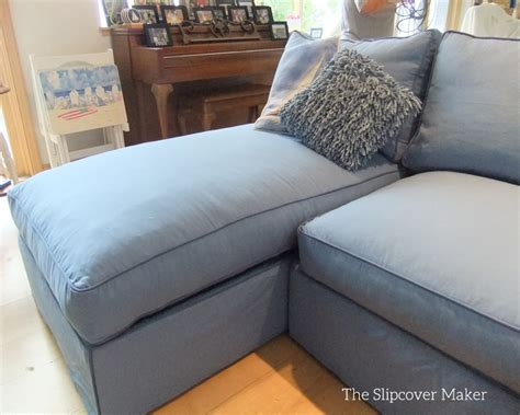 Slipcovers For Sectional With Chaise by Blue Canvas Slipcover For Big Sectional Sofa The