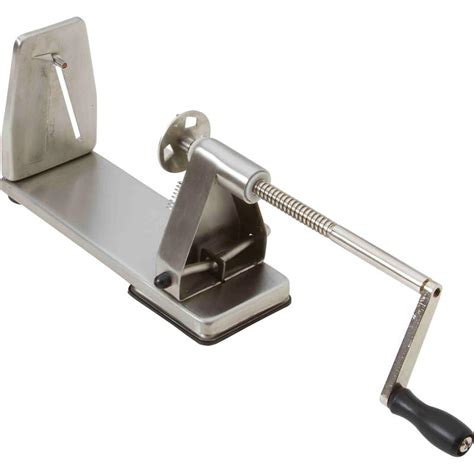 Vegetable Stainless Steel Slicer maxam stainless steel and chrome plated vegetable spiral