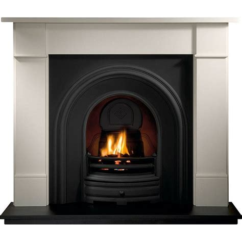 gallery brompton fireplace with crown cast iron arch