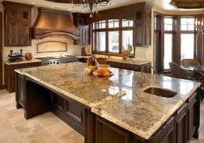 elegant kitchen design with granite countertops ideas