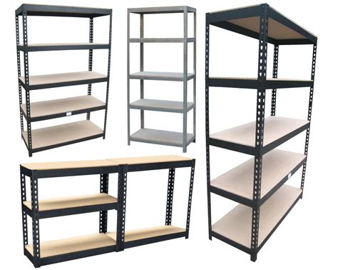 metal garage shelving piranha boltless industrial heavy duty shelving garage steel racking storage bay ebay