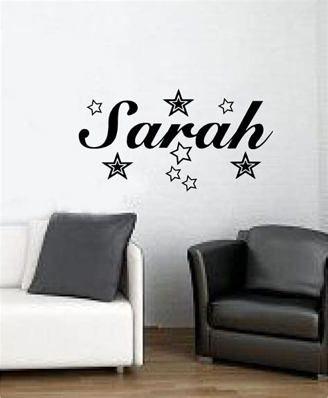 personalised bedroom wall stickers personalised name with wall sticker vinyl bedroom decal