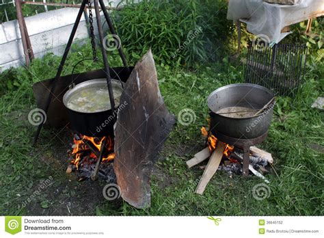 outdoor cooking outdoor cooking stock photography image 36645152
