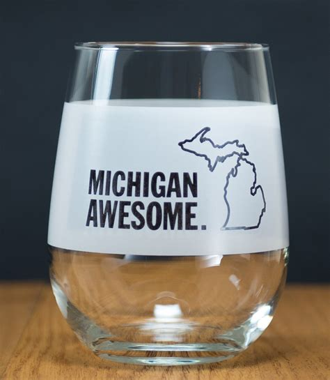 awesome wine glasses drinkware michigan awesome