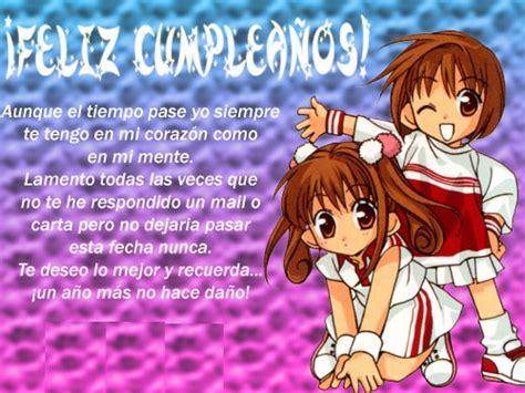 imagenes feliz cumpleaños amiga anime tarjetas anime para desear feliz cumplea 241 os