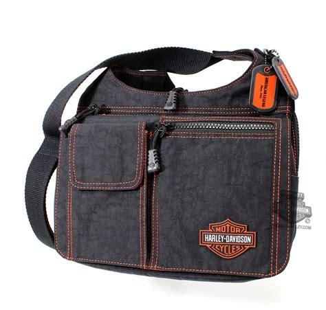 Harley Davidson Bag rl7279s bk harley davidson 174 womens orange stitching traveler rally ride black bag