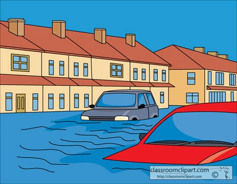 flood clipart survival clipart flooded house pencil and in color
