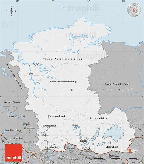 russia maps siberia maps gray map of eastern siberia