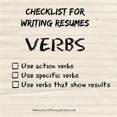 a resume writing guide to using verbs how tos for words