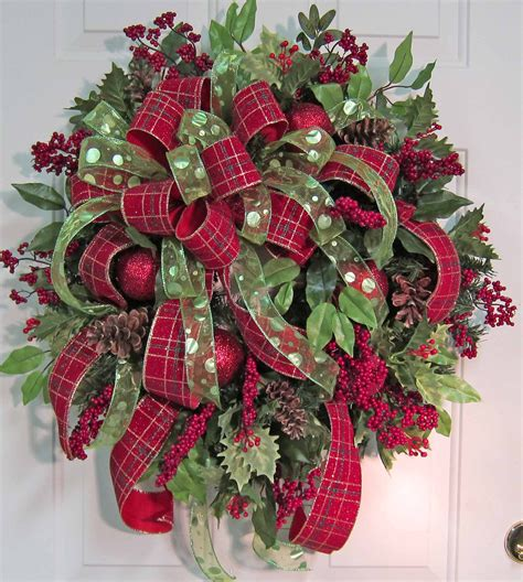 xl gorgeous christmas door wreath outdoor holiday wreath
