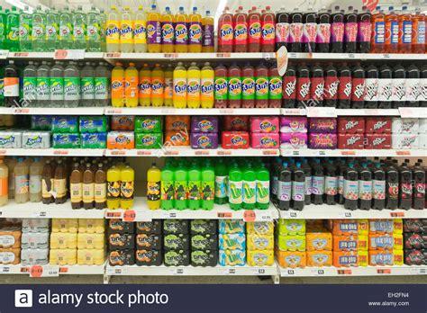 Shelf Supermarket by Variety Of Soft Drinks On Supermarket Shelves Stock Photo Royalty Free Image 79346880 Alamy
