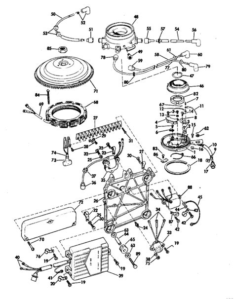 evinrude etec parts diagram evinrude distributor parts for 1969 115hp 115983e