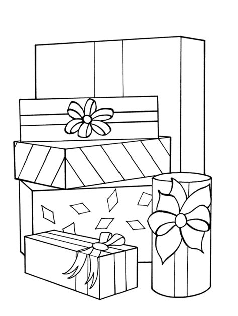 Gift Coloring Pages 5 Free Coloring Pages Gifts