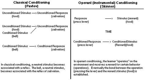classical conditioning diagram classical conditioning pavlov vs operant conditioning