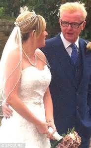 proud chris is father of the bride as dj walks his daughter jade down the aisle daily mail online