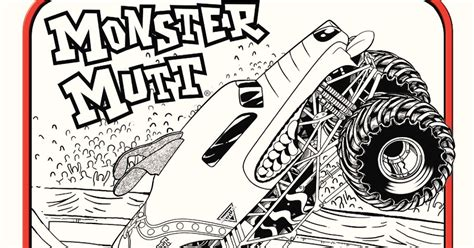 monster mutt coloring page monster jam logo coloring pages monster best free