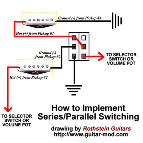 series parallel switching for guitars and basses guitar