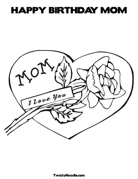 coloring pages birthday cards moms free happy birthday mum coloring pages