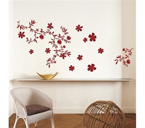 peel and stick wall decor floral red dorm room wall decor peel n stick