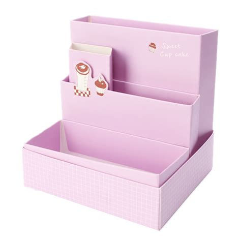 Paper Organizer For Desk Diy Fold Board Paper Storage Box Organizer Makeup Cosmetic Stationery Desk Decor Ebay