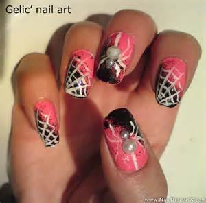 pink halloween nail design 187 nail designs amp nail art don
