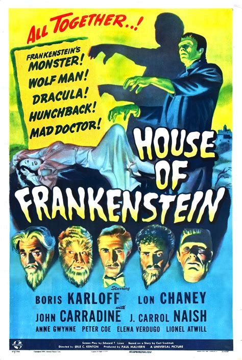 house of frankenstein 1000 images about 20 s 30 s 40 s horror thriller sci fi movie posters on