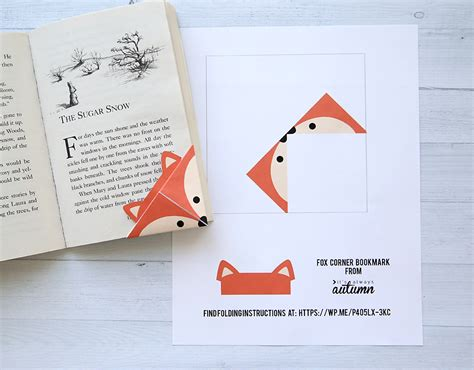 How To Make Corner Bookmarks With Paper - diy woodland animals origami bookmarks print fold it