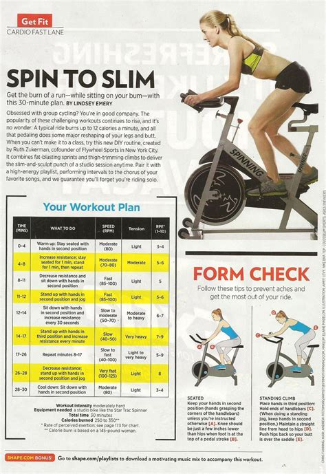 17 best ideas about spin bike workouts on