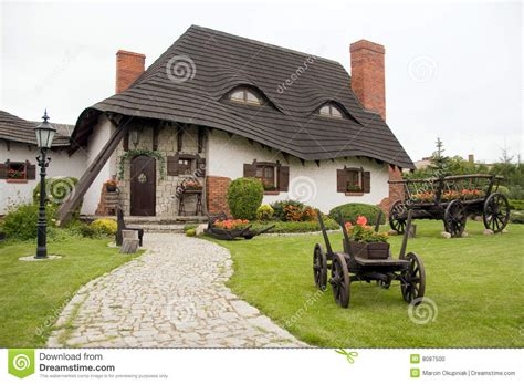 polish house plans old polish house stock photo image of front fashioned 8087500