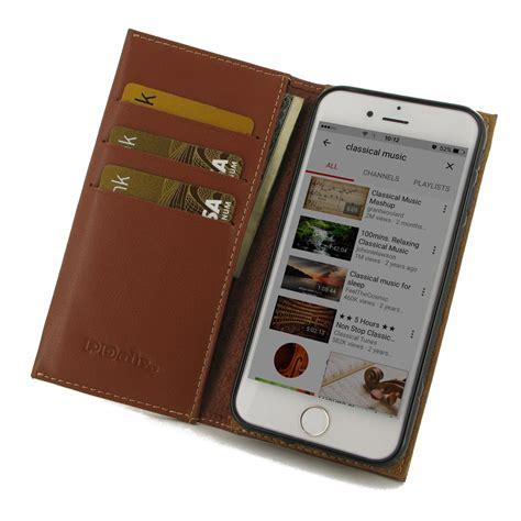 Flip Leather Card Book Cover Casing Wallet Premium For Iphone 7 iphone 7 leather smart flip wallet brown pdair kickstand