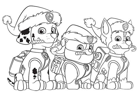 paw patrol blank coloring pages to print paw patrol christmas party free coloring page animals