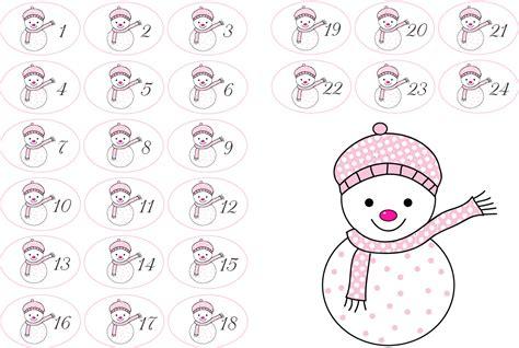 Adventskalender Sticker Ausdrucken by Zahlen F 252 R Den Adventskalender Zum Ausdrucken Free