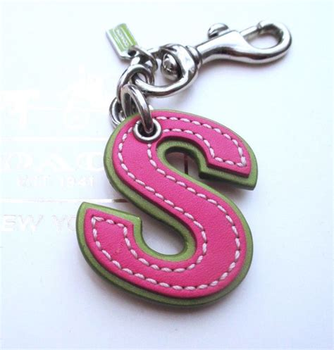 alphabet for keychains coach leather initial alphabet letter quot s quot s key fob chain