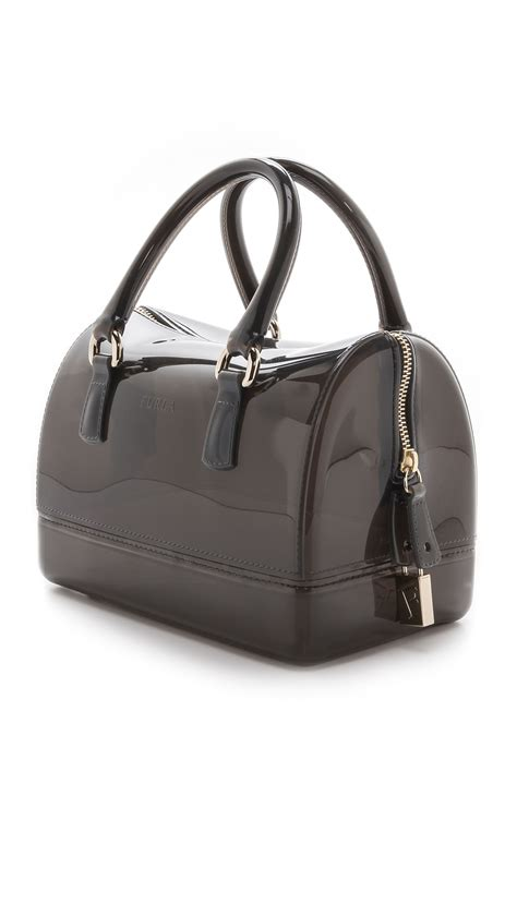 Mini Furla furla mini satchel mist in gray mist lyst