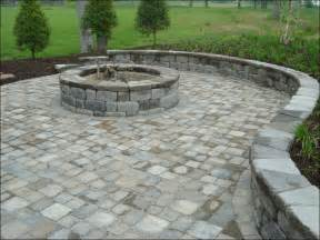 Pavers For A Patio Firepit Built With Country Manor Tumbled Units