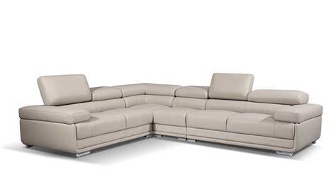 gray leather sectionals modern gray leather sectional sofa ef119 leather sectionals