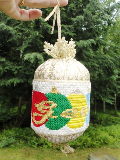 needlepoint christmas ornaments images